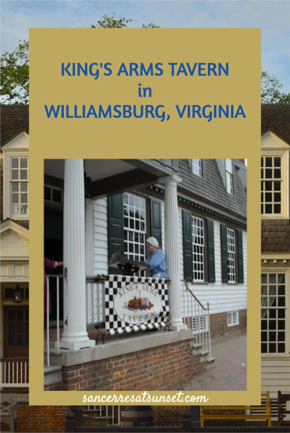 King\'s Arms Tavern at Colonial Williamsburg