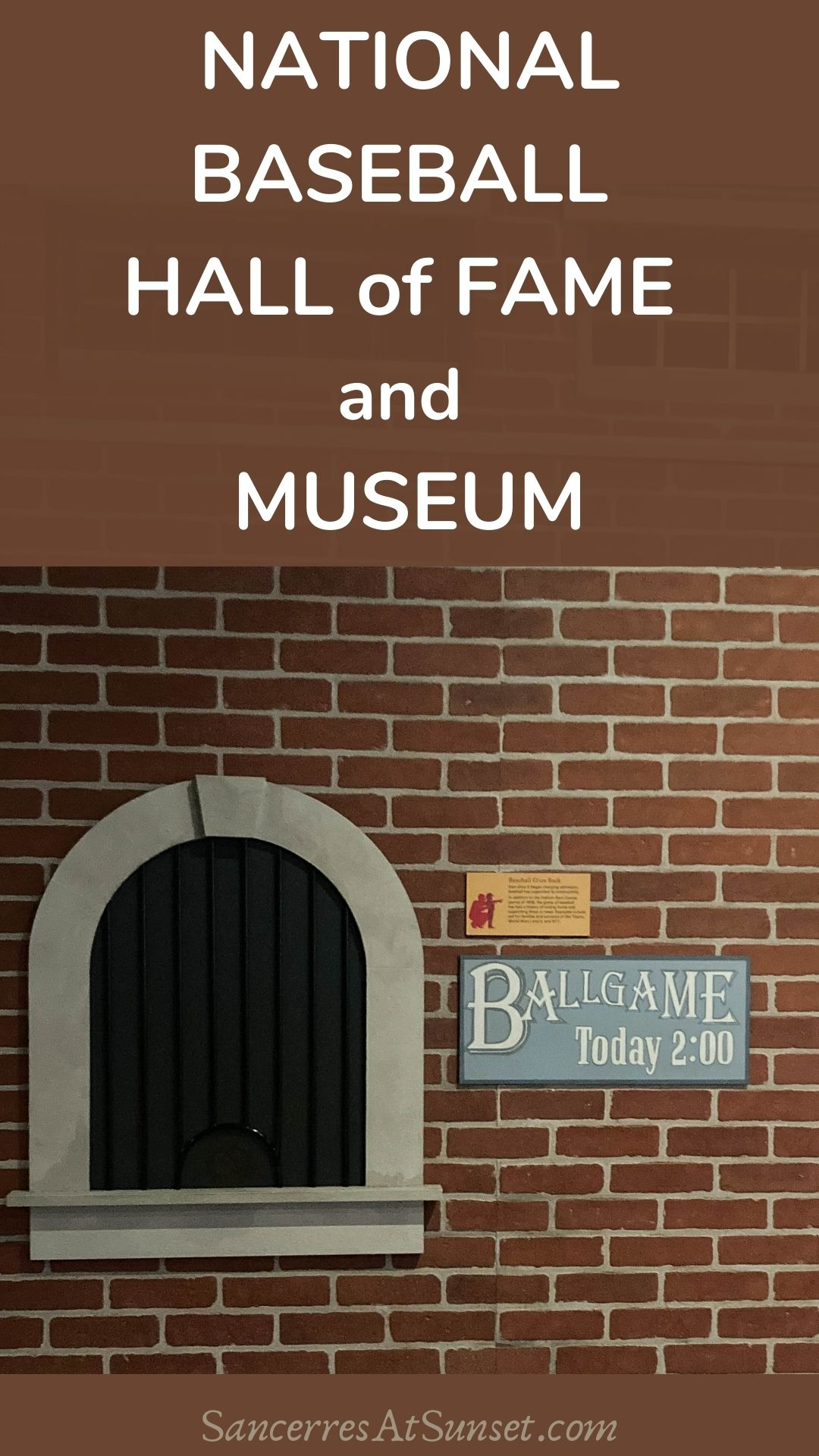 NATIONAL BASEBALL HALL of FAME & MUSEUM:  honoring America\'s pastime in upstate New York